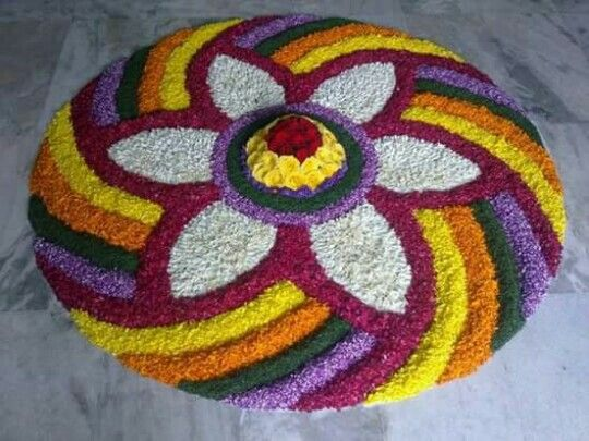 11 Easy and Latest Flower Rangoli Designs For This Diwali