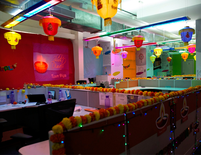Exceptional ... Diwali Decoration Ideas Office Work Places