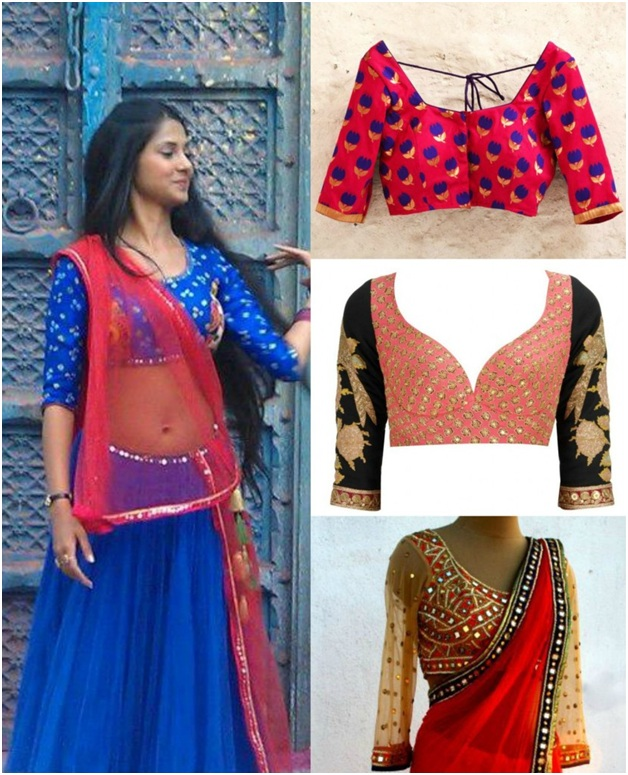 7ed783e141d036 The Trendiest Blouse Designs for Karwa Chauth