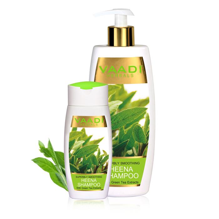 Vaadi Herbals Superbly Smoothing Heena Shampoo With Green Tea Extracts