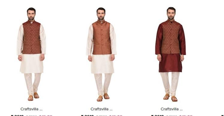 e629a44ba4 Men's Ethnic Wear Collection at Craftsvilla